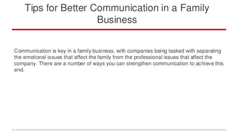 better business communication tips for better communication in a family business