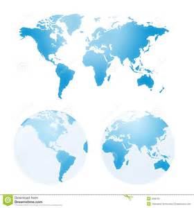 usa globe map vector vector maps of earth stock image image 2299761