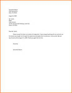6 effective immediately resignation letter exles