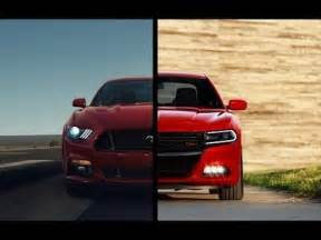 Dodge Charger Vs Ford Mustang 2015 Ford Mustang Vs 2015 Dodge Charger