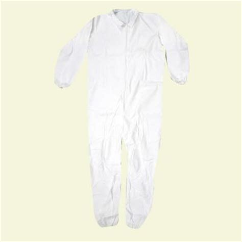 home depot paint coveralls trimaco large white lightweight coveralls 09953 the home