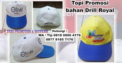 Pembuat Topi Souvenir Di Tangerang jual souvenir topi promosi bahan drill royal harga murah
