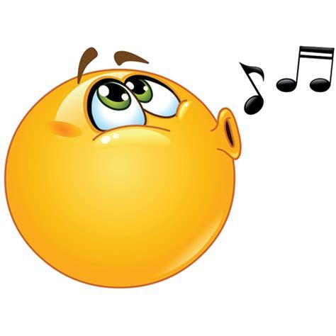 singing emoji whistling smiley symbols emoticons
