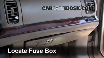 interior fuse box location 1997 2005 buick park avenue