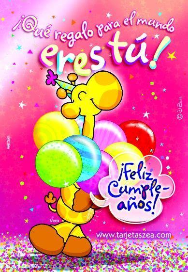 imagenes de cumpleaños zeas girafa vera con globos de cumplea 241 os 169 zea www tarjetaszea
