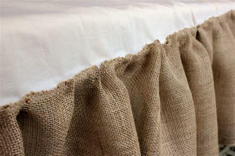 burlap bed skirt how to make a burlap bedskirt daisymaebelle daisymaebelle
