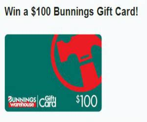 Bunnings Gift Card - win a 100 bunnings warehouse gift card free sweepstakes contests giveaways