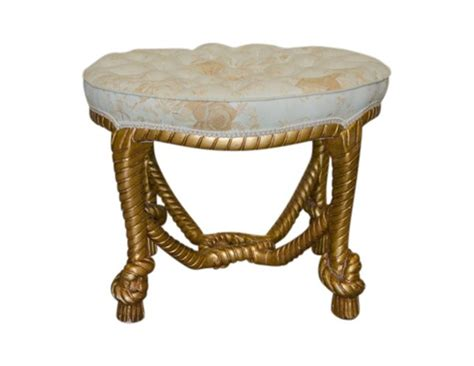 decorative ottomans decorative ottoman with gold rope base the local vault