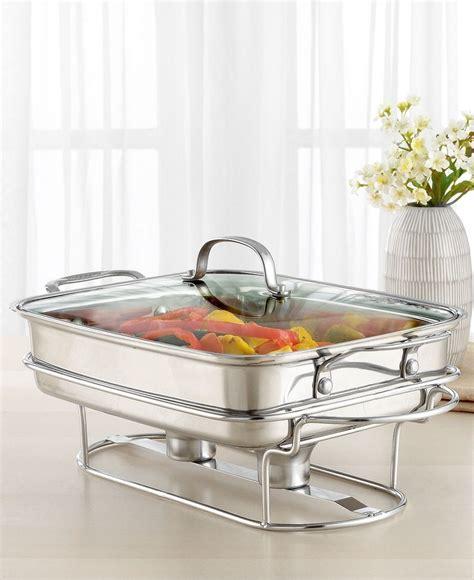 heated buffet servers cuisinart classic entertaining buffet server stainless steel rectangular heated platters