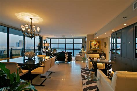 Venetian Living Room by Venetian Causeway Apartment