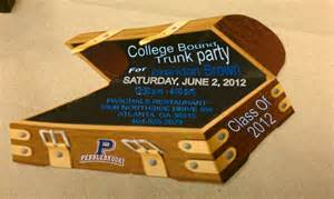 college bound trunk invitation prissypeoples bellsouth net trunk ideas
