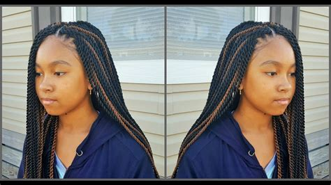 tweens box braids hairstyles with color crochet braids for teens kid friendly braid styles
