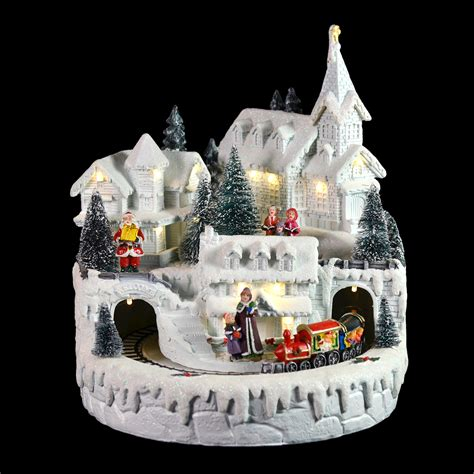 light up christmas village light up white led christmas ornament village town painted