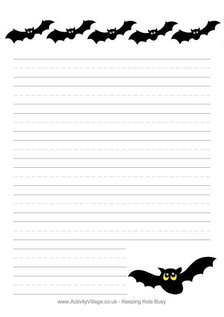 bat writing paper writing paper bats crafty
