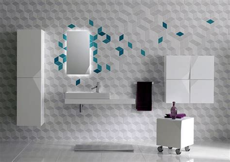 Bathroom Wall Tiles Design Ideas - futuristic bathroom wall tile decor iroonie