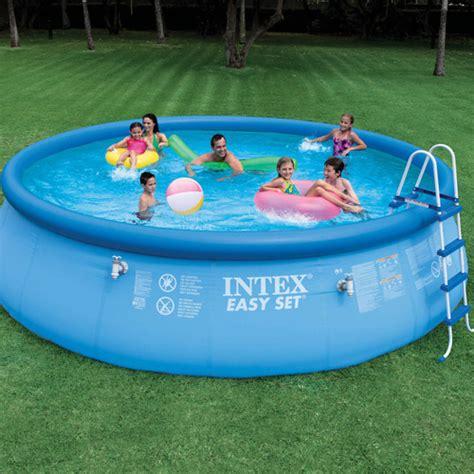backyard swimming pools walmart intex 18 x 48 quot easy set above ground swimming pool