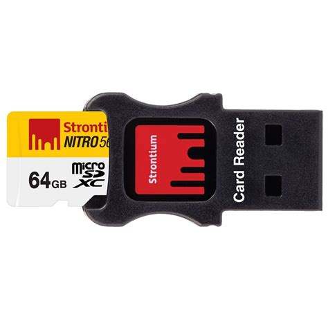 Strontium Nitro 566x Sdxc Uhs 1 85mb S Class 10 64gb strontium nitro 566x microsdxc uhs 1 85mb s class 10 64gb with adapter and card reader