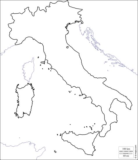 coloring page map of italy printable map of italy for kids coloring home