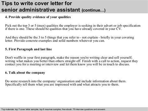 senior administrative assistant cover letter