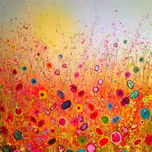 colorful painting the countryside by yvonne coomber