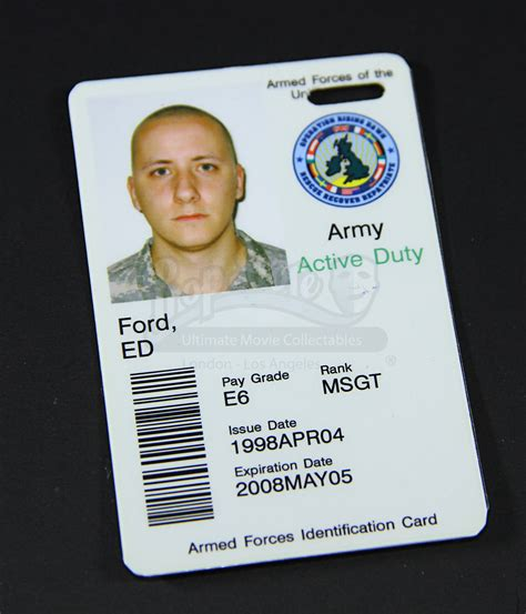 us army id card template us army id card prop store ultimate collectables