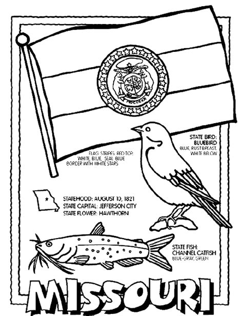 Oregon Flag Coloring Page Missouri State Flag Coloring Page