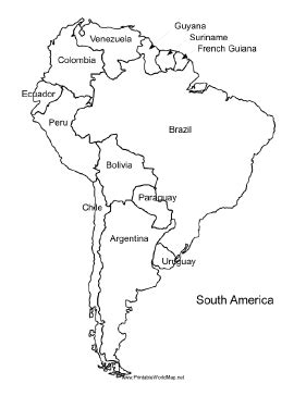 south america map with country names a printable map of south america labeled with the names of