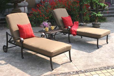 patio furniture chaise lounge cast aluminum 3pc santa
