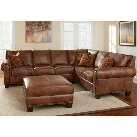 brown leather sectional sofa furniture awesome leather brown sectional couches design