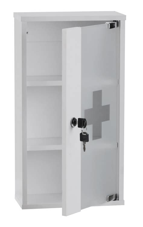 lockable bathroom cabinet wohnling aid medicine cabinet lockable white glass