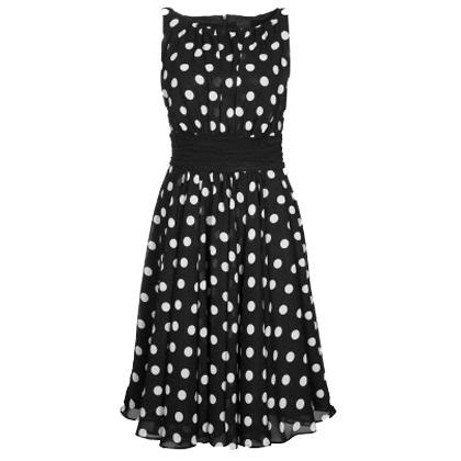 swing kleid polka dots festliches schwarzes kleid swing modisches kleid im