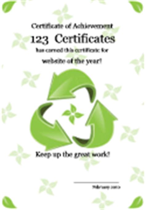 ecology certificates earth day and earth science awards