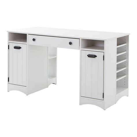 craft table with storage south shore artwork non extendable 53 5 in with storage