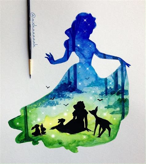 disney painting free the 25 best disney princess silhouette ideas on