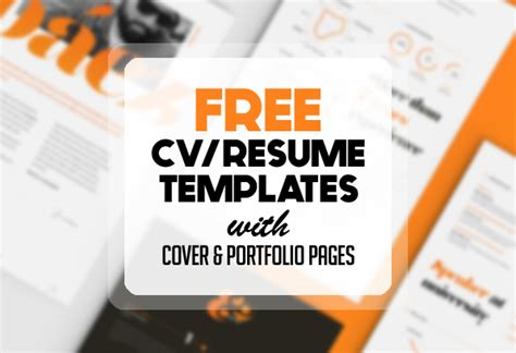 Free Resume Templates for 2017   Freebies   Graphic Design