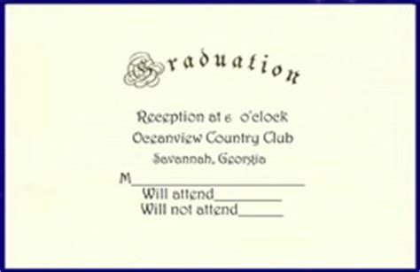 graduation rsvp card template graduation rsvp cards word templates clip wording