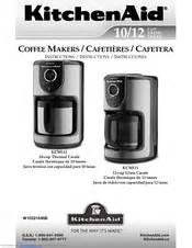 kitchenaid kcm111ob manuals