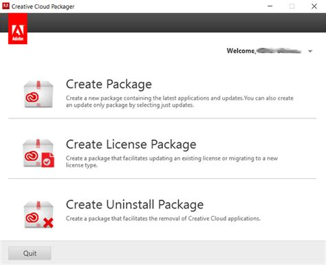 theme creator package name uninstall creative cloud products