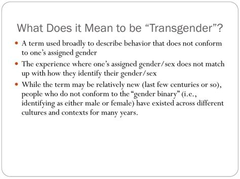 what does transgender mean exactly and how does the ppt transgender awareness powerpoint presentation id