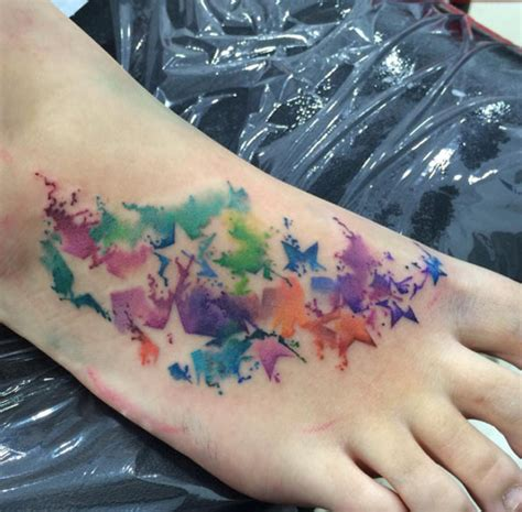 watercolor tattoos foot watercolor foot designs ideas and meaning