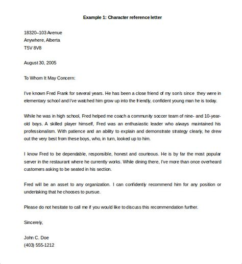 reference letter samples word excel templates