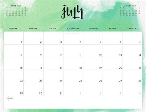 calendar template july 2018 color pattern 2018 printable calendar calendar 2018