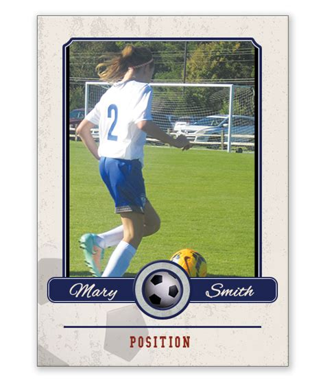 soccer trading card template custom soccer trading card template