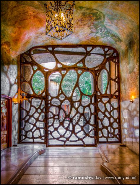 A Frame Home Interiors by La Pedrera Casa Mila Front Door Barcelona Spain