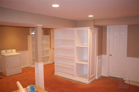 wainscoting chair rail beadboard built in shelving units