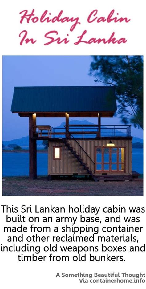 Small Lake Cabin Plans This Siri Lankan Holiday Cabin Was Build On An Army Base