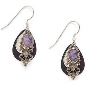 silver forest earrings silver forest amethyst filigree layered earrings bealls florida