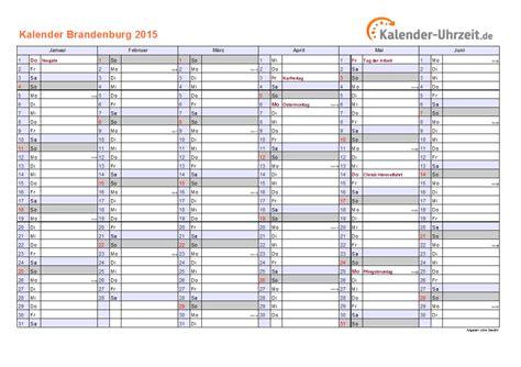 Bersicht Kalender 2015 Feiertage 2015 Brandenburg Kalender