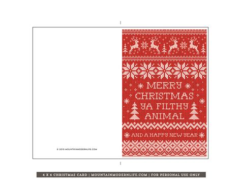 printable christmas postcards printable christmas card mountainmodernlife com