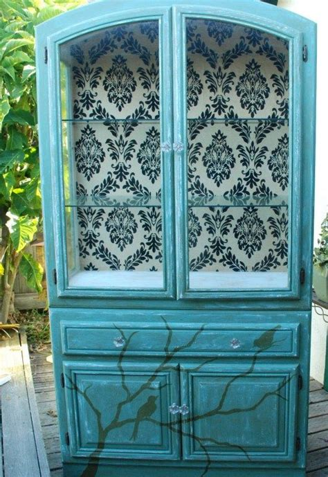 Decoupage Cabinet - 1000 ideas about vintage china cabinets on